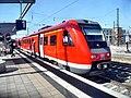 Wormser Hauptbahnhof- auf Bahnsteig zu Gleis 1- Richtung Ludwigshafen (RE 612 142) 27.5.2009.JPG