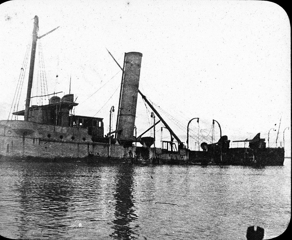 Wreck of protected cruiser Isla de Luzón
