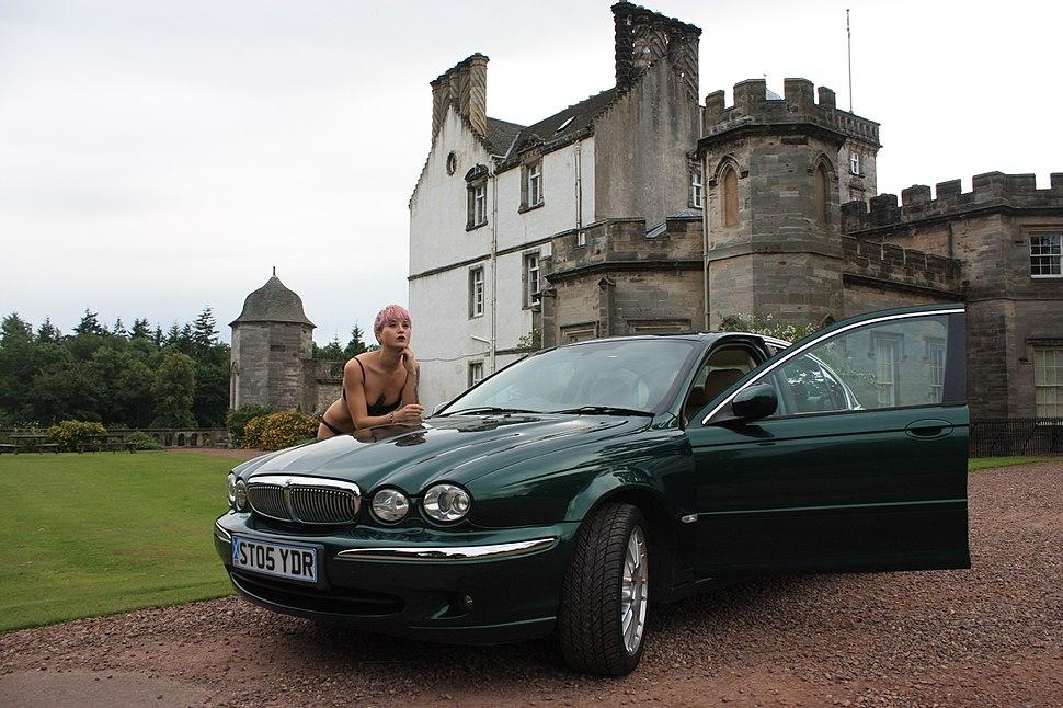 X-type Jaguar in British Racing Green, model Casini