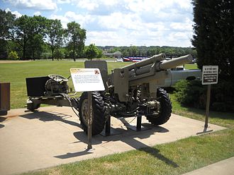 M101 howitzer - XM124E2 Light Auxiliary-Propelled 105mm Howitzer at the Rock Island Arsenal museum