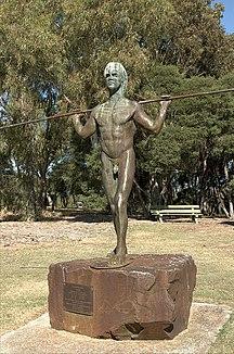 Heirisson Island-Yagan's statue-Yagan Statue 2005a