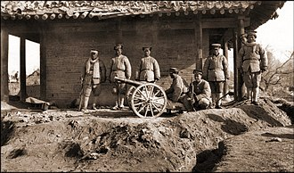 Yan Xishan - Yan Xishan's soldiers in Liaozhou (now Zuoquan County) in 1925 during the war with Henan warlord Fan Zhongxiu.