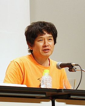 Yoshitomo Nara at a press conference, Yokohama Art Museum, 2012