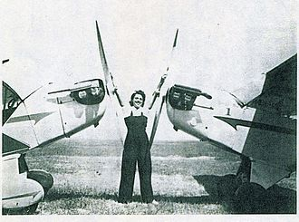 Willa Brown - Willa Brown as a young woman, standing on an airfield