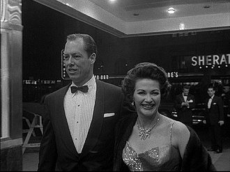 The Ten Commandments (1956 film) - Yvonne De Carlo and Bob Morgan, her husband, at the New York premiere