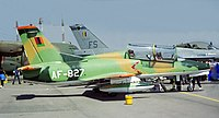 Zambian Air Force Hongdu K-8 at AAD 2000.jpg