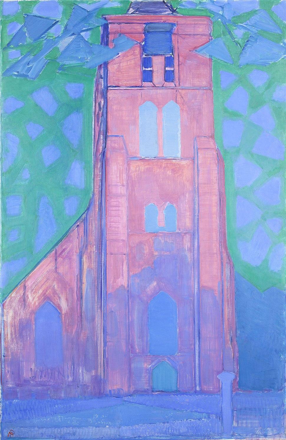 Zeeuwsche kerktoren, Mondriaan, 1911