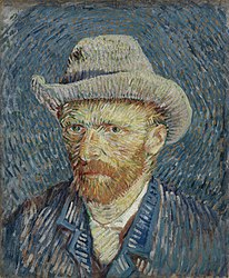 ونسان ون گوگ: Self-Portrait with Grey Felt Hat