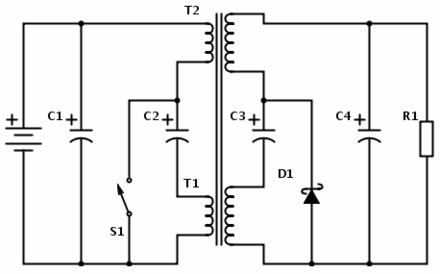 Integrated magnetics Cuk converter Zero-ripple-isolated-cuk-converter.png