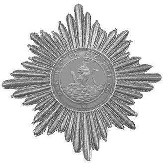Order of the Union - Image: Zilveren ster uit 1807 van de Orde van de Unie geborduurde stralen en massieve kern