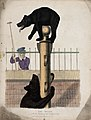 Zoological Society of London; a bear clambering up a pole wh Wellcome V0023095.jpg