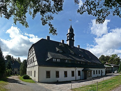 Zug (Freiberg), Beschert Glück Fundgrube - Huthaus (01-2)