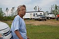 """""""Noxapater, Miss., May 27, 2014 -- Annabelle Watkins watches over the delivery and set up of her FEMA mobile housing unit. She was in her home with her son and had taken refuge in t - DPLA - 1a21bd99420ed1bca838282d411489ee.jpg"""