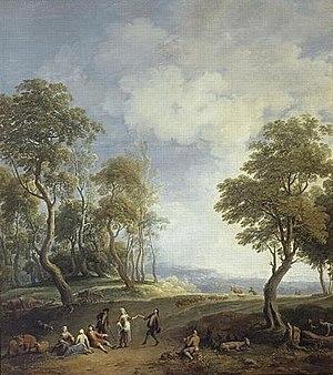 Jan Joost van Cossiau - Image: 'Fete de Village', painting by Jan Joost van Cossiau