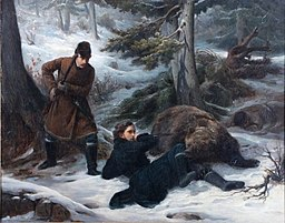 'The Bear Hunters' by François-Auguste Biard, 1852