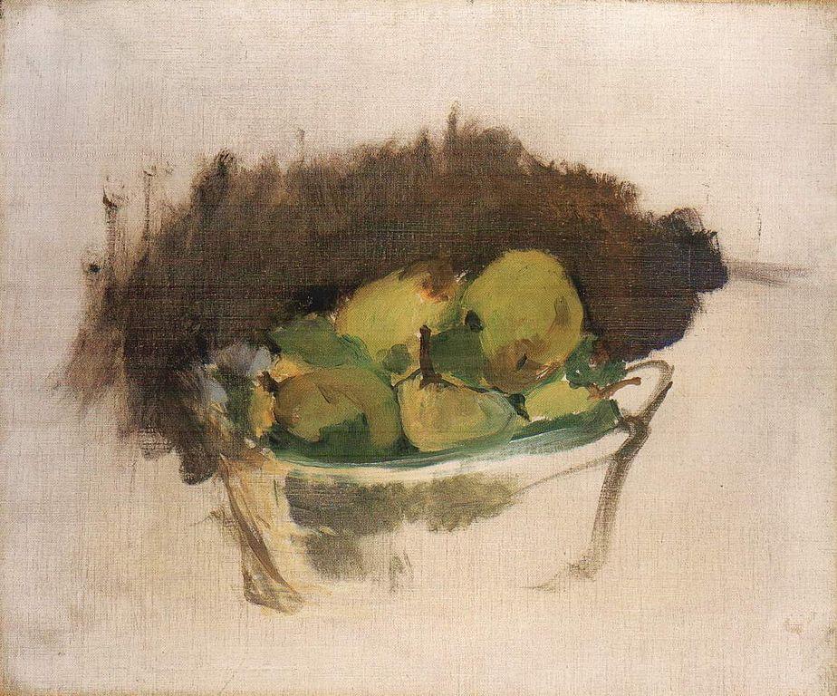 """""""Corbeilles de poires"""" (1880) d'Edouard Manet au Ashmolean Museum d'Oxford."""