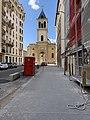 Église Saint-Pothin de Lyon depuis la rue Bugeaud ; au premier plan un échafaudage.jpg