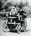 Émile Levassor et Charles d'Hostingue, Bordeaux-Paris-Bordeaux 1895 sur Panhard & Levassor 4 hp Phenix 2 places.jpg