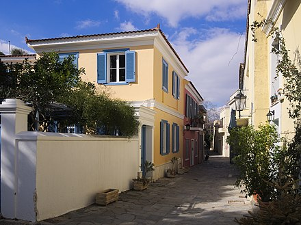 Neoclassical Houses in the historical neighbourhood of Plaka. Plaka 6552.jpg