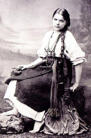 Marie Bashkirtseff - Maria Bashkyrtseva in Ukrainian folk costumes
