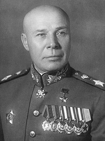 Marshal Timoshenko (born in the Budjak region) commanded numerous fronts throughout the war, including the Southwestern Front east of Kiev in 1941. Marshal Sovetskogo Soiuza Geroi Sovetskogo Soiuza Semion Konstantinovich Timoshenko.jpg