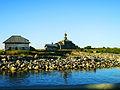 Старинная каменная гавань и часовня Андрея Первозваного на Большом Заяцком Соловецком острове.JPG
