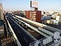 上から見た首都高速神奈川1号横羽線 羽田出入口.jpg