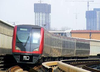Tianjin Metro - Image: 天津地铁一号线101