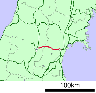 Senzan Line - Image: 鉄道路線図 JR仙山線