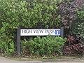 -2019-10-04 Street name sign, High View Park, Cromer.JPG