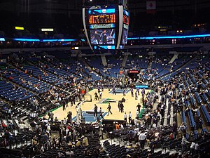 Minnesota Timberwolves failed relocation to New Orleans - The interior of the Target Center