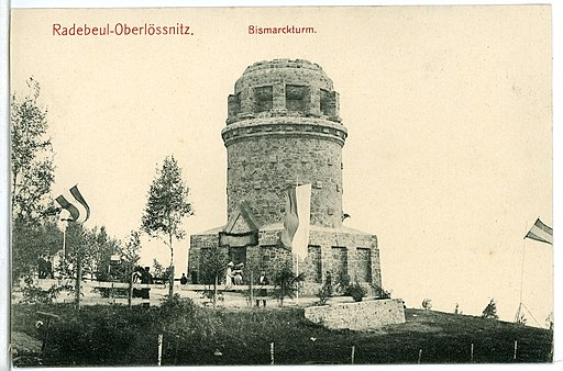 09577-Radebeul-1908-Oberlößnitz Bismarckturm-Brück & Sohn Kunstverlag