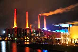 Wolfsburg - VW power station at night