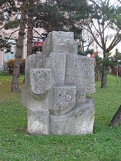 1120 Tivoligasse 4-6 - Natursteinplastik Vogelbaum von Joana Steinlechner-Bichler 1963 IMG 6938.jpg