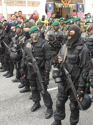 National Special Operations Force (Malaysia) - Commandos of GGK on standby during the 56th National Day Parade