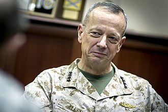 John R. Allen - Allen meets with Chairman of the Joint Chiefs of Staff General Martin E. Dempsey in Kabul, Afghanistan, July 2011