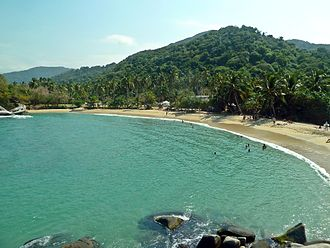 Tourism in Colombia - Cabo San Juan in Tayrona National Park