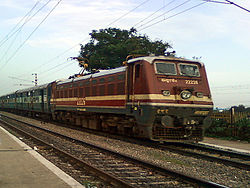 12727 HYB bound Godavari Express at Marripalem(VSKP) 01.jpg