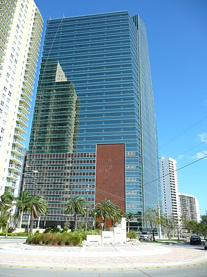 1450 Brickell - A view of 1450 Brickell from the rear