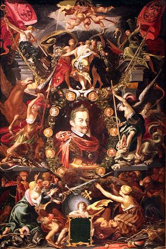 Aegidius Sadeler - Allegory on the reign of Emperor Matthias, 1614