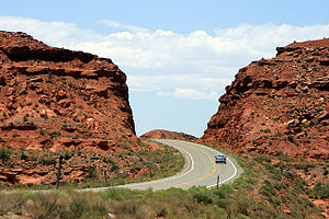 U.S. Route 163 - The highway offers dramatic views.