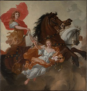 Gerard de Lairesse - Apollo and Aurora, 1671, ceiling painting for  Herengracht, n° 539, Metropolitan Museum of Art