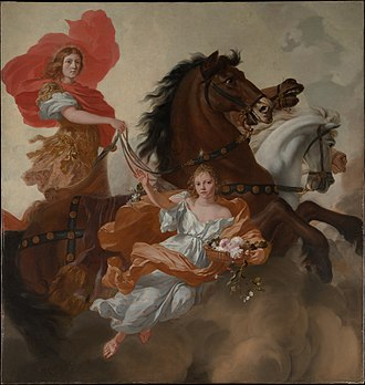 Aurora (mythology) - Apollo and Aurora, 1671 by Gerard de Lairesse