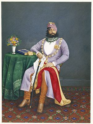 Maharaja - Maharaja Jaswant Singh II of Marwar, c. 1880. Attributed to Narsingh. The Brooklyn Museum.