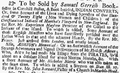 1727 SamuelGerrish NewEnglandWeeklyJournal Boston Oct9.png