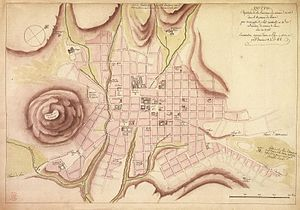 Urban evolution of colonial Quito - Plan Created by the Academy of Sciences of Paris and Found in the British Library.