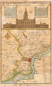 Philadelphia Wikipedia - Philadelphia on a us map