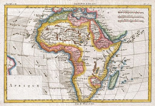 1780 Raynal and Bonne Map of Africa - Geographicus - Afrique-bonne-1780