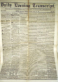 1852 EveningTranscript Boston USA July23.png