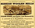 1863 Mission Woolen Mills advertizement.jpg